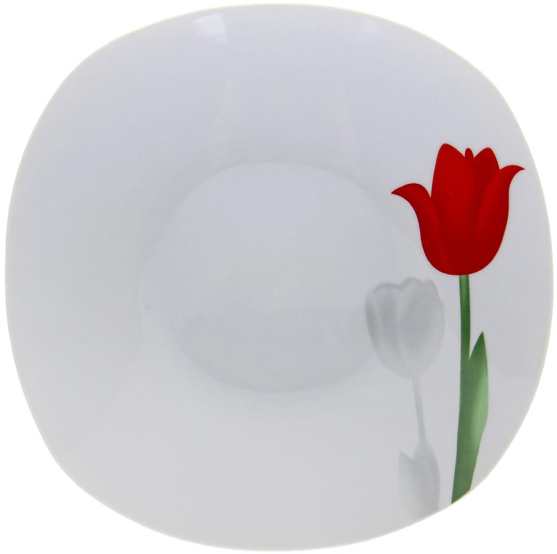 Тарелка суповая Доляна Тюльпаны, диаметр 20 см836455Причудливая гжельская роспись, нежные рисунки акварелью, яркие цветочные мотивы – на нашем сайте вы обнаружите богатейшую коллекцию утонченной керамической посуды для подлинных ценителей бытовой красоты.Тарелка суповая 20 см Тюльпаны входит в необыкновенно изысканную серию столовой керамики. Благодаря эксплуатационным достоинствам и особой энергетике древнего материала вместо усталости от домашних хлопот вы будете ощущать максимальный комфорт и эстетическое удовольствие. Подарите себе ежедневный праздник с яркой и практичной посудой от Сима-ленд!