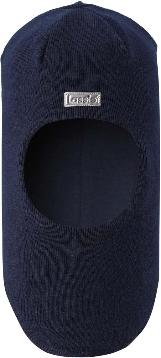 Шапка-шлем детская Lassie, цвет: синий. 7187436960. Размер 54/56