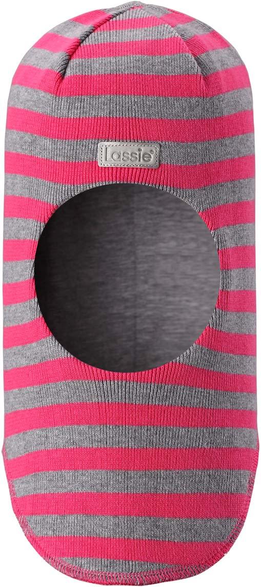 Шапка-шлем детская Lassie, цвет: розовый, серый. 7187434400. Размер 50/527187434400Шапка-шлем Lassie для малышей и детей постарше – классический выбор для зимней поры. Модель предназначена для защиты ушек, лба и области шеи от холода и ветра. Ветронепроницаемые вставки в области ушей также обеспечивают дополнительную защиту. Такую шапку легко сочетать и удобно носить.