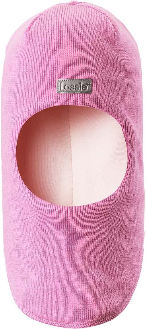 цена на Шапка-шлем детская Lassie, цвет: розовый. 7187434160. Размер 54/56