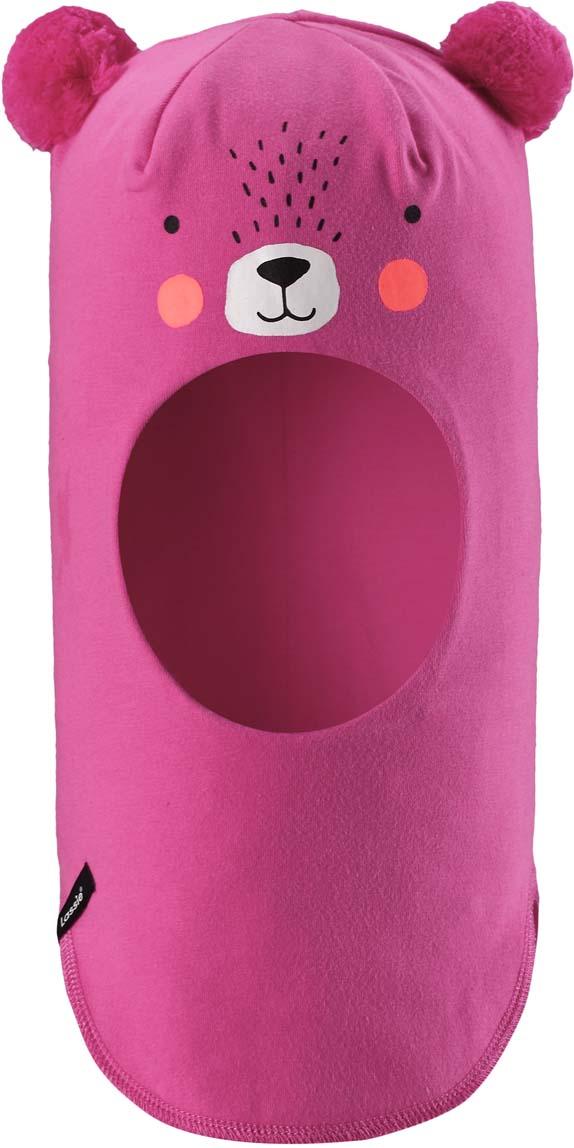 цена на Шапка-шлем детская Lassie, цвет: розовый. 7187414400. Размер 44/46