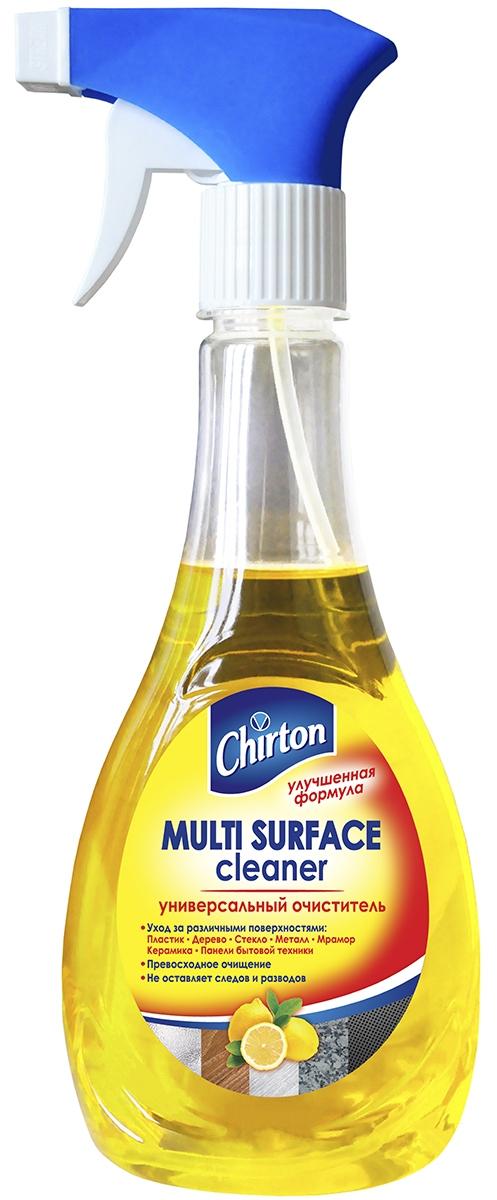 Очиститель для различных поверхностей Chirton, универсальный, 400 мл49765Универсальный очиститель Chirton предназначен для ухода за твёрдыми поверхностями: металлическими, пластиковыми, деревянными, стеклянными, мраморными, керамическими и другими.Особенности: - удаляет грязь, пыль, пятна и следы от пальцев;- благодаря антистатическому эффекту надолго предохраняет очищенные поверхности от налипания пыли;- нежный аромат средства делает процесс уборки более приятным.