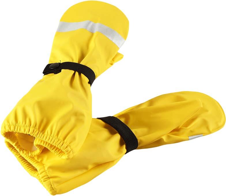 Варежки детские Lassie, цвет: желтый. 5272072350. Размер 55272072350Детские варежки Lassie обеспечат ребенку комфорт на прогулке. Варежки выполнены из водонепроницаемого материала с запаянными швами. Изделие без подкладки. Варежки дополнены эластичными резинками на кнопках. Для безопасности ребенка в темное время суток варежки снабжены светоотражающими деталями.