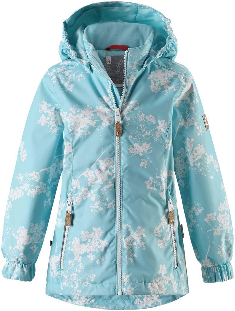 Куртка для девочки Reima Anise, цвет: голубой. 521530R8714. Размер 110521530R8714Куртка для девочки Reima Anise выполнена из полиэстера. Модель с капюшоном и длинными рукавами застегивается на молнию.