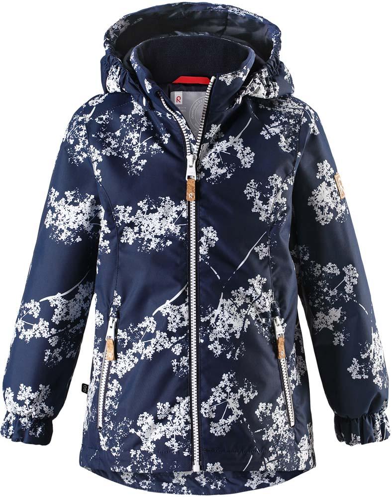Куртка для девочки Reima Anise, цвет: синий. 521530R6988. Размер 140521530R6988Куртка для девочки Reima Anise выполнена из полиэстера. Модель с капюшоном и длинными рукавами застегивается на молнию.