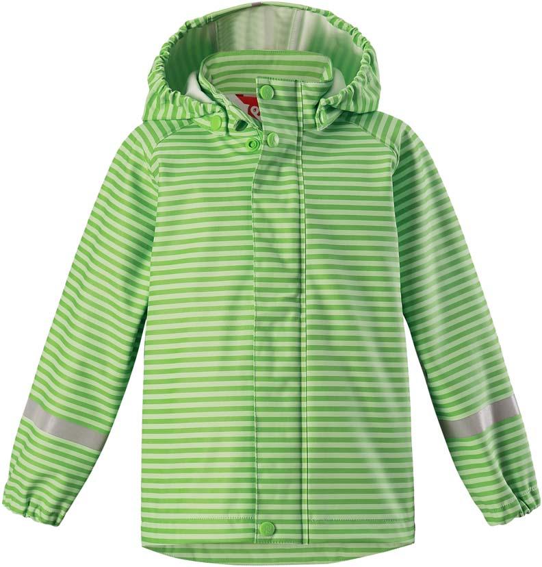 Плащ-дождевик детский Reima Vesi, цвет: зеленый. 5215238462. Размер 1285215238462Плащ-дождевик детский Reima Vesi изготовлен из полиэстера. Модель застегивается на застежку-молнию и кнопки. Швы изделия запаяны и абсолютно водонепроницаемы. Плащ-дождевик не деревенеет на морозе, поэтому ее можно носить круглый год – просто добавьте в холодную погоду теплый промежуточный слой. Съемный капюшон защитит даже от ливня, при этом он безопасен во время прогулок в дождливый день.
