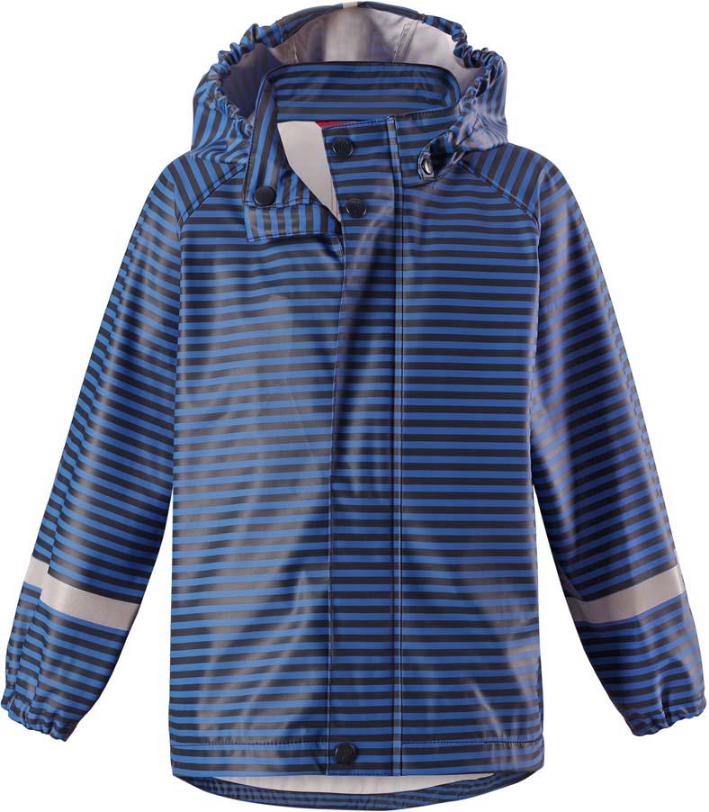 Плащ-дождевик детский Reima Vesi, цвет: синий. 5215236984. Размер 1165215236984Плащ-дождевик детский Reima Vesi изготовлен из полиэстера. Модель застегивается на застежку-молнию и кнопки. Швы изделия запаяны и абсолютно водонепроницаемы. Плащ-дождевик не деревенеет на морозе, поэтому ее можно носить круглый год – просто добавьте в холодную погоду теплый промежуточный слой. Съемный капюшон защитит даже от ливня, при этом он безопасен во время прогулок в дождливый день.