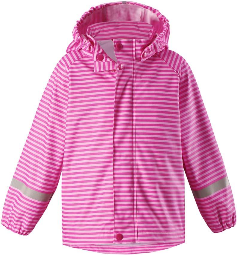 Плащ-дождевик детский Reima Vesi, цвет: розовый. 5215234623. Размер 1045215234623Плащ-дождевик детский Reima Vesi изготовлен из полиэстера. Модель застегивается на застежку-молнию и кнопки. Швы изделия запаяны и абсолютно водонепроницаемы. Плащ-дождевик не деревенеет на морозе, поэтому ее можно носить круглый год – просто добавьте в холодную погоду теплый промежуточный слой. Съемный капюшон защитит даже от ливня, при этом он безопасен во время прогулок в дождливый день.