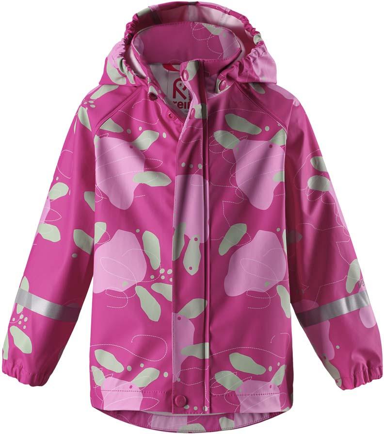Плащ-дождевик детский Reima Vesi, цвет: розовый. 5215234622. Размер 1105215234622Плащ-дождевик детский Reima Vesi изготовлен из полиэстера. Модель застегивается на застежку-молнию и кнопки. Швы изделия запаяны и абсолютно водонепроницаемы. Плащ-дождевик не деревенеет на морозе, поэтому ее можно носить круглый год – просто добавьте в холодную погоду теплый промежуточный слой. Съемный капюшон защитит даже от ливня, при этом он безопасен во время прогулок в дождливый день.