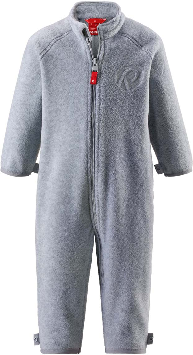 Комбинезон утепленный детский Reima Kiesu, цвет: серый. 5163369150. Размер 925163369150Комбинезон утепленный детский Reima Kiesu выполнен из полиэстера. Модель с воротником стойкой и длинными рукавами застегивается на застежку-молнию.