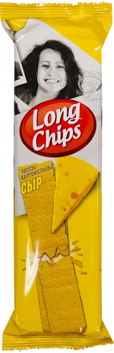 Long Chips картофельные чипсы со вкусом сыра, 75 г lorenz pomsticks картофельные чипсы со вкусом сметаны и специй 100 г