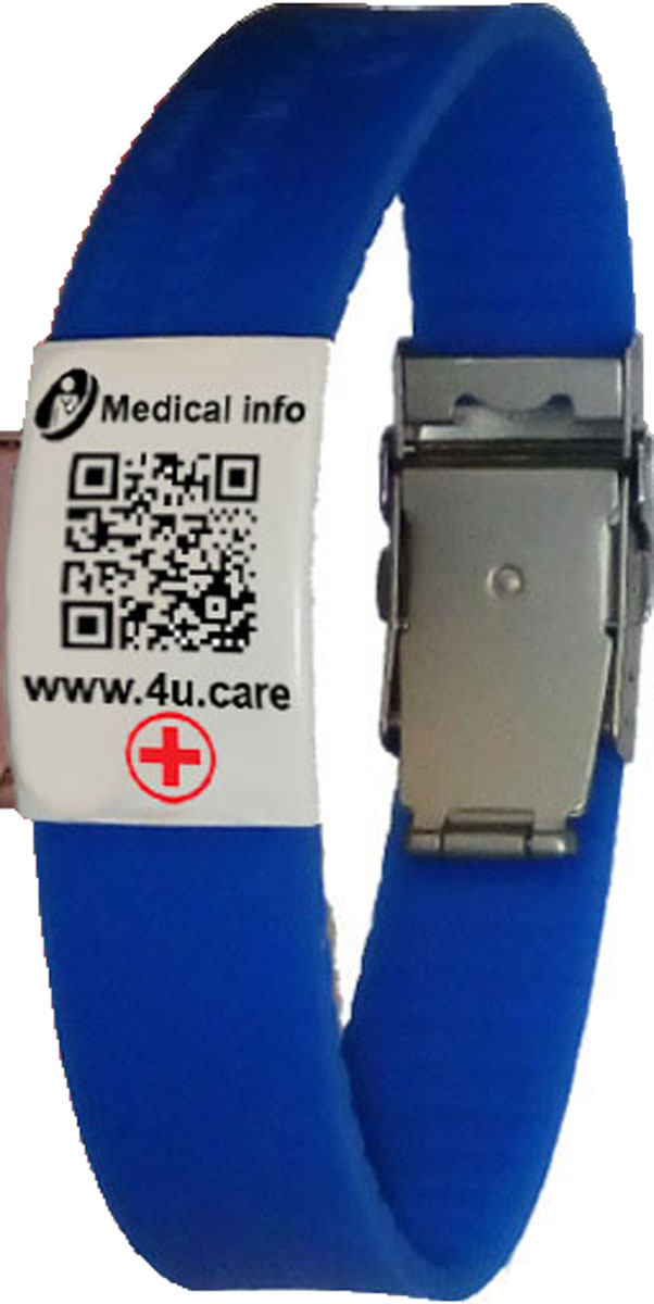 М-Браслет медицинский с QR кодом