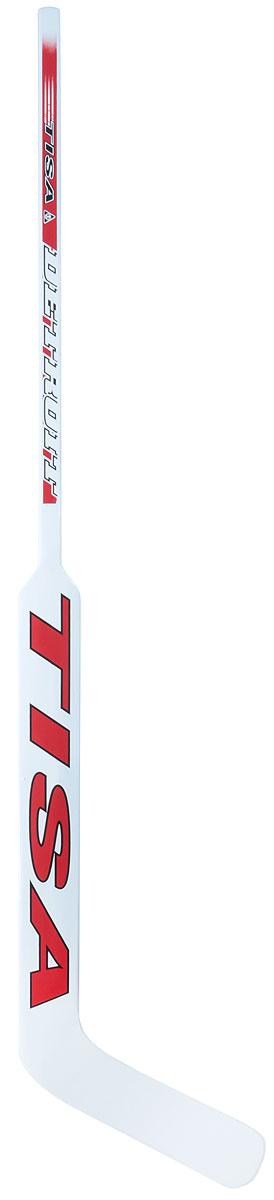 Клюшка вратарская Tisa Detroit SR, загиб L лыжи беговые tisa top universal с креплением цвет желтый белый черный рост 182 см
