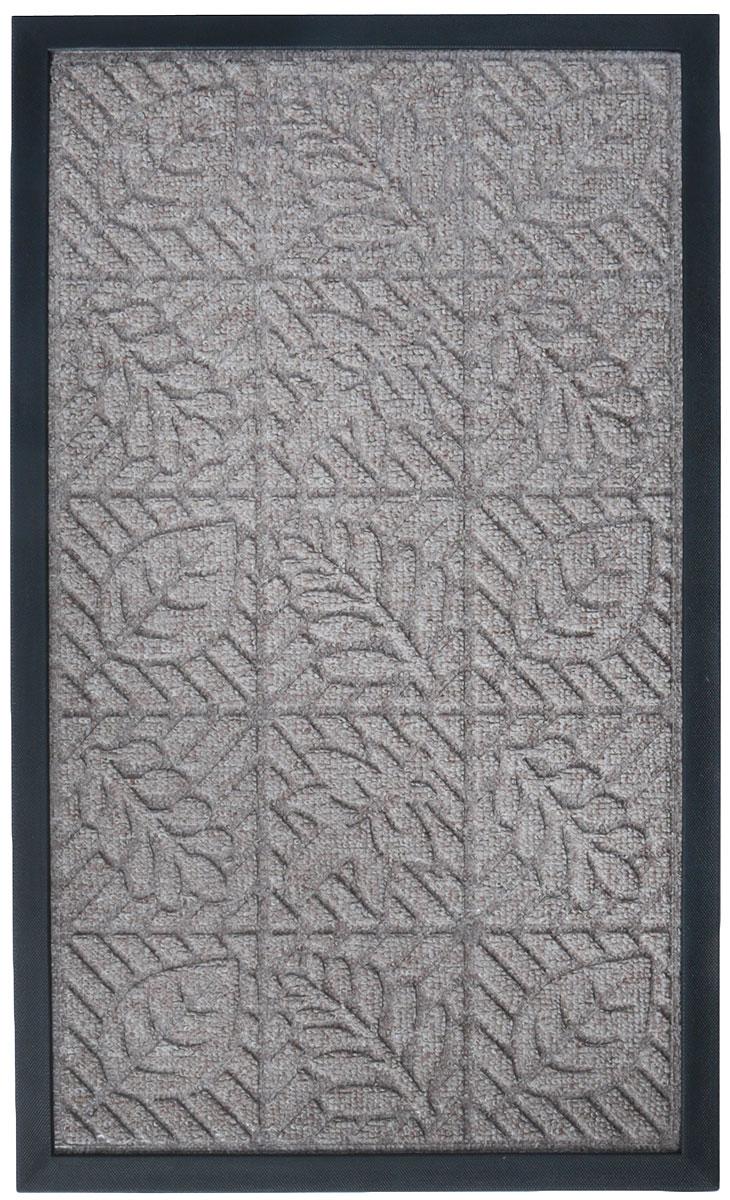 Коврик придверный Paterra Премиум, цвет: бежевый, 45 х 75 см