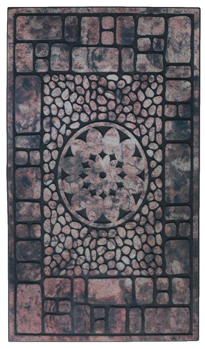 """Придверный коврик Paterra """"Инновационный"""" - отличная защита вашего дома от грязи, а также  прекрасное украшение интерьера. Благодаря премиальному верхнему покрытию,  коврик легко чистится и долго служит. Размеры: 44 x 72 см."""