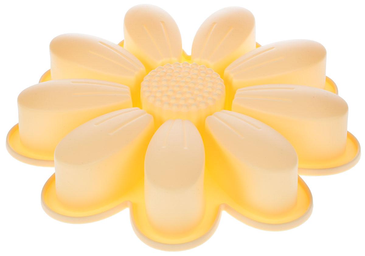 Форма для выпечки Paterra Ромашка, цвет: кремовый, 27 х 27 х 3,5 см