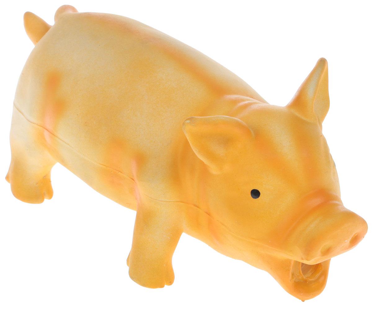 Игрушка для собак V.I.Pet Кабан. Бекон, цвет: оранжевыйL-116_оранжевыйИгрушка для собак V.I.Pet Кабан. Бекон, цвет: оранжевый