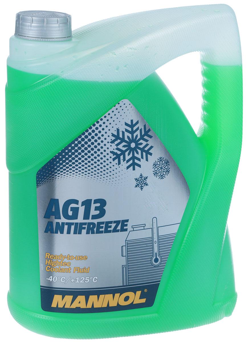 Антифриз MANNOL AG13 -40°C Hightec, готовый, 5 л. 20412041_зеленыйАнтифриз MANNOL AG13 -40°C Hightec - готовый раствор, предназначенный для круглогодичного применения в системах охлаждения, для которых рекомендуется автопроизводителем применять антифризы на моноэтиленгликолевой основе. Благодаря высокотехнологичному пакету присадок обеспечивает эффективную защиту системы охлаждения от всех типов коррозии. Не содержит фосфатов, нитритов, аминов. Нейтрален по отношению к следующим металлам и сплавам: латунь, медь, легированная сталь, чугун, алюминий, свинцовые сплавы. Антифриз гарантирует надежную защиту системы охлаждения в течение 3 лет.