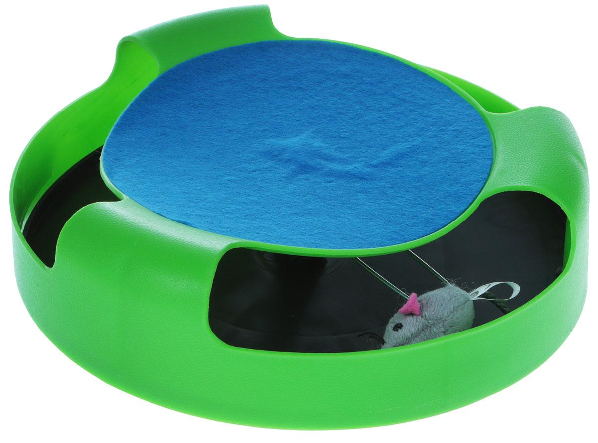 Игрушка Trixie  Мышка в ловушке , цвет: зеленый, диаметр 24 см - Игрушки