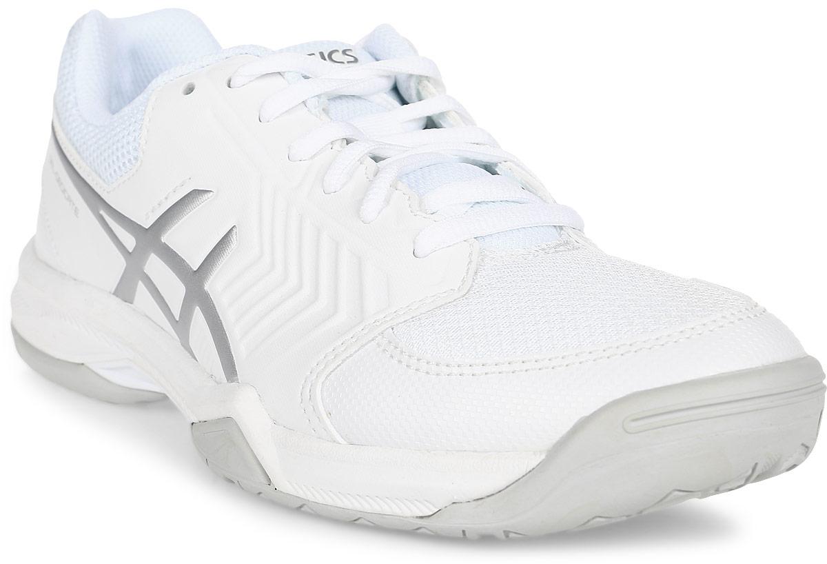Кроссовки женские Asics Gel-Dedicate 5, цвет: белый, серебристый. E757Y-0193. Размер 9H (40) кроссовки asics кроссовки gel fortitude 7 2e