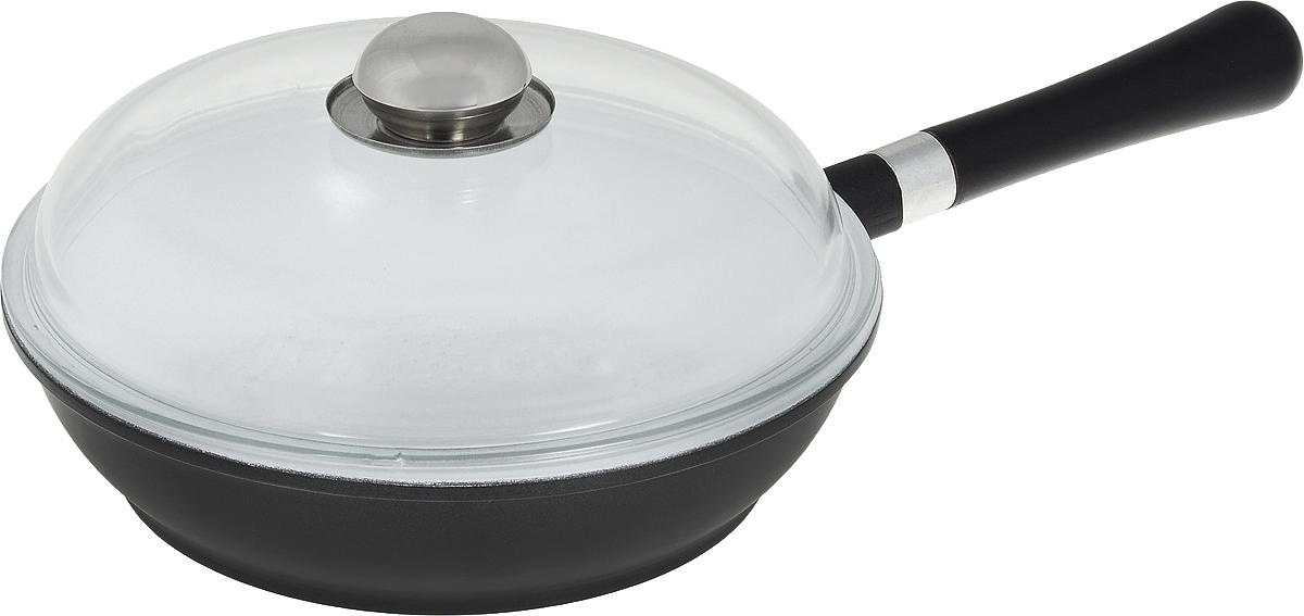 """Сковорода """"Bohmann"""" изготовлена из алюминия с керамическим покрытием покрытием. Покрытие  абсолютно безопасно для здоровья, оно имеет специальный слой, к которому не прилипает пища.  При жарке требуется минимуму масла или жира. А меньше жира - меньше калорий, что  благотворно влияет на ваше здоровье.  Внешнее цветное декоративное покрытие выдерживает высокую температуру. Изделие  оснащено крышкой из жаропрочного стекла. Съемная деревянная ручка не нагревается в  процессе приготовления  пищи. Посуда """"Bohmann"""" с износоустойчивым антипригарным покрытием позволяет готовить в  энергосберегающем режиме, значительно сокращая время, проведенное у плиты. Покрытие  устойчиво к механическим повреждениям.  Сковорода пригодна для использования на всех типах плит: газовые, электрические,  галогеновые, стеклокерамические. Подходит для чистки в посудомоечной  машине.  Высота стенки сковороды: 6 см.  Длина ручки: 21 см. Диаметр индукционного диска: 19 см."""