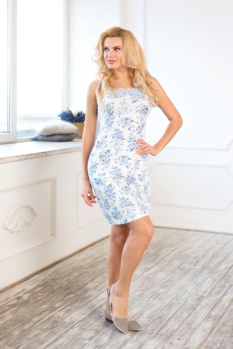 Купить Сорочка женская Mia Cara Winter Garden, цвет: голубой. AW17-MCUZ-159. Размер 42/44