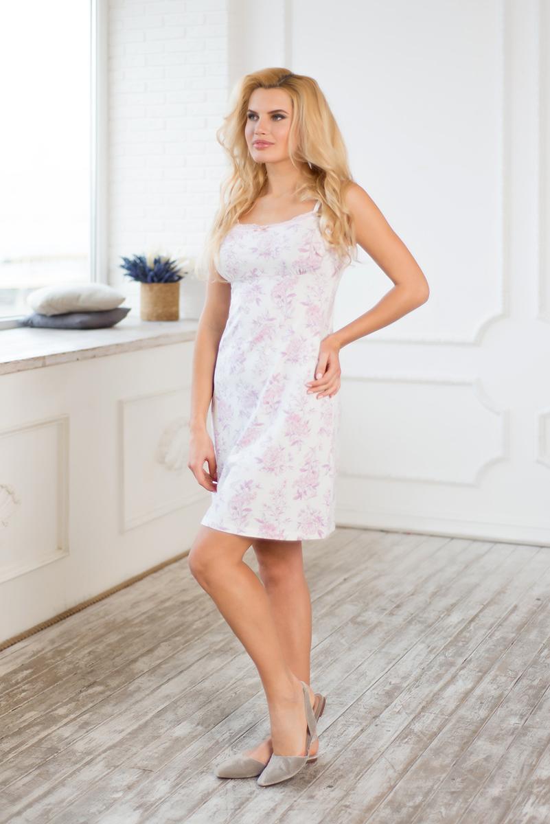 Сорочка женская Mia Cara Winter Garden, цвет: розовый. AW17-MCUZ-159. Размер 50/52 пижама женская mia cara футболка шорты цвет розовый бежевый ss16 mcuz 293 размер 50 52