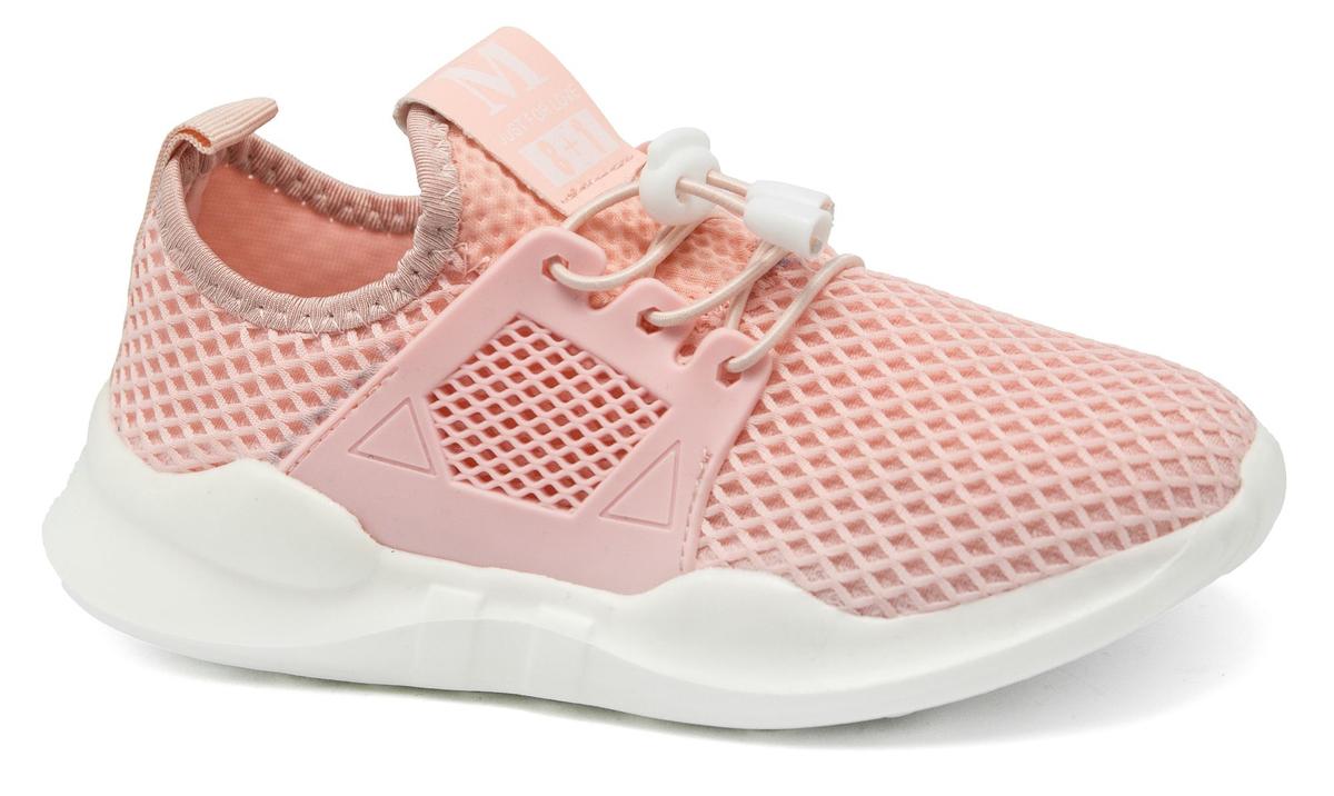 Кроссовки для девочки Канарейка, цвет: розовый. E3123-4. Размер 34E3123-4Легкие кроссовки от Канарейка приведут в восторг вашего ребенка! Модель выполнена из дышащего текстиля с перфорацией. Модель на ноге фиксируется при помощи эластичной шнуровки со стоппером. Подкладка и стелька из текстиля гарантируют комфорт при носке. Гибкая и легкая подошва, выполненная из резины, долговечна и обеспечивает высокую устойчивость к деформациям.