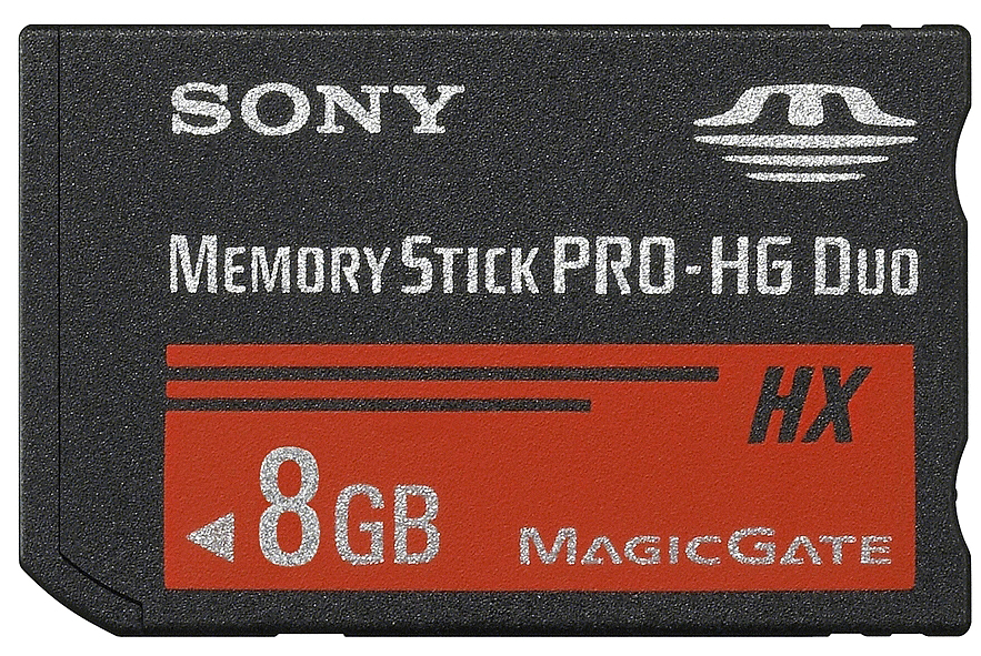 Sony Memory Stick PRO-HG Duo HX 8GB карта памяти (MS-HX8B) sony sony hxr nx3 новая профессиональная карта памяти видеокамеры портативный hd