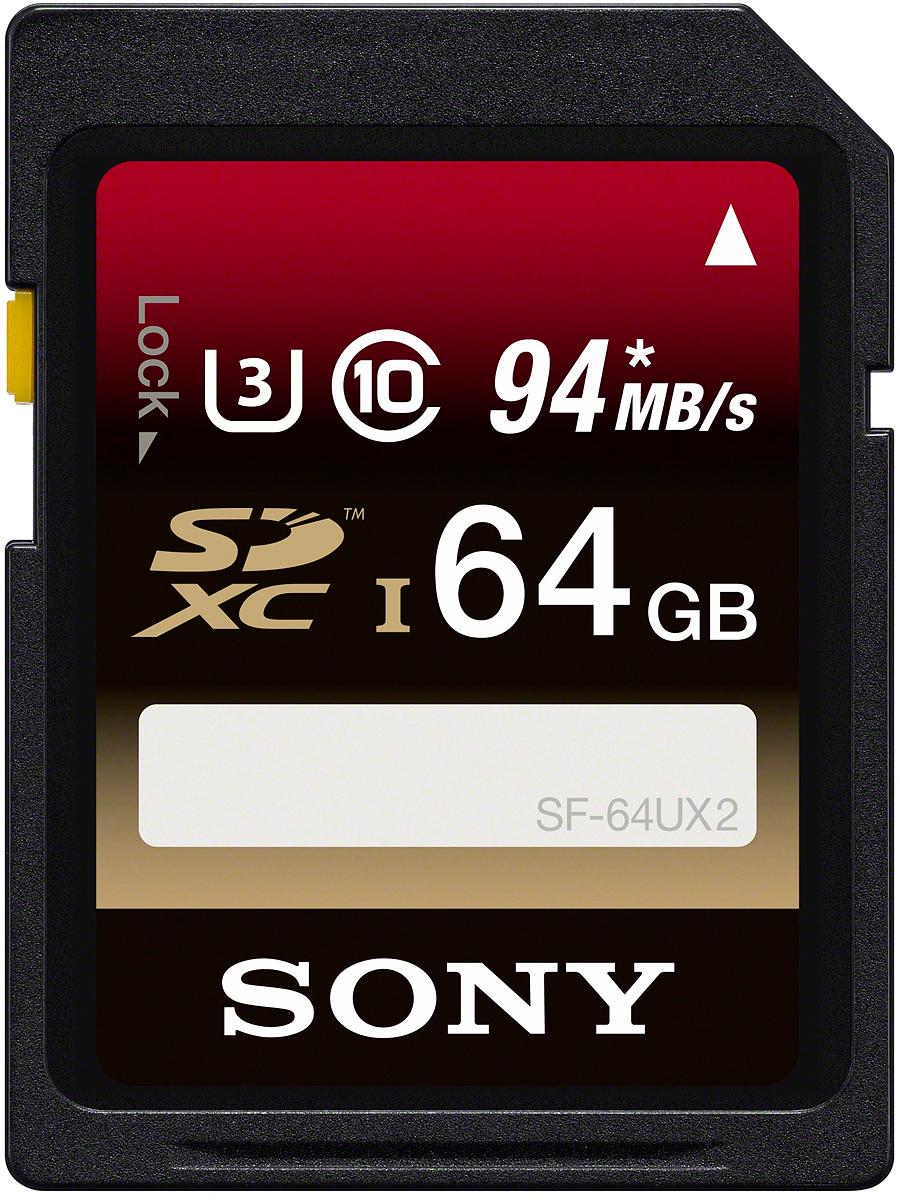 Sony SF-UXT SD Class 10 UHS-1 64GB карта памятиSF64UXT