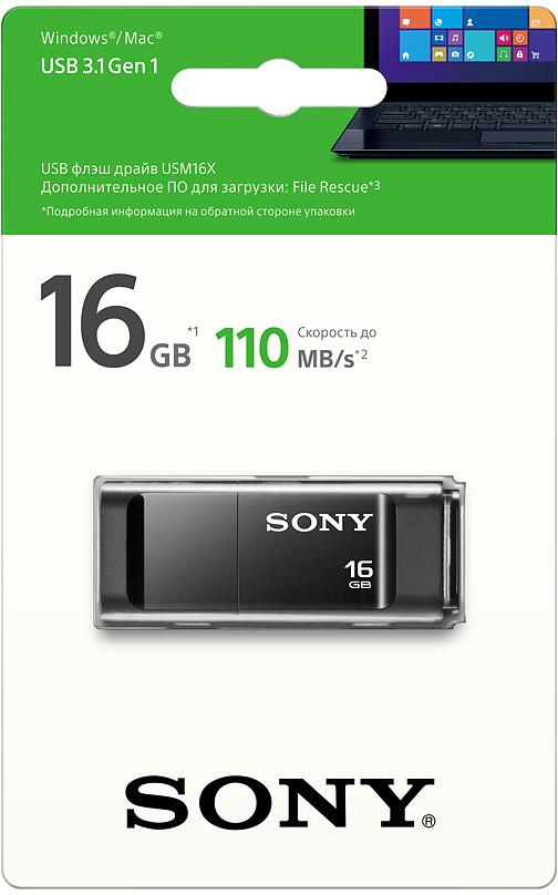 Sony MicroVault USM-X 16Gb, Black USB-накопительUSM16XBСтильный, компактный и производительный накопитель Sony MicroVault USM позволит значительно расширитьвозможности в области обмена данными между устройствами или людьми. Благодаря небольшому размеру егоудобно носить с собой и быстро подключить к компьютеру или любому другому устройству с USB-портом.