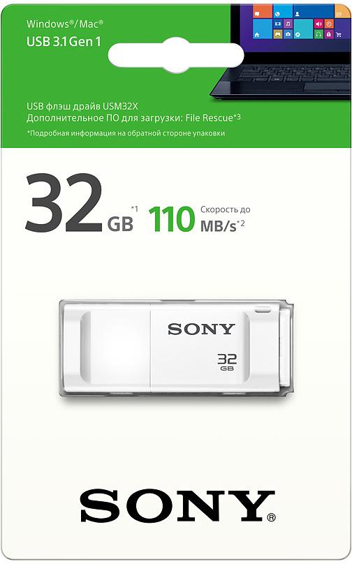 Sony USMX 32GB, White USB флэш-накопительUSM32XW