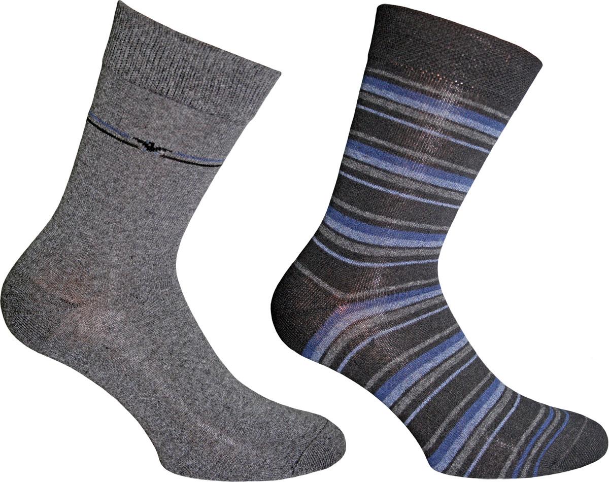 Носки мужские Master Socks, цвет: синий, серый, 2 пары. 58063. Размер 39/4158063Подарочный набор