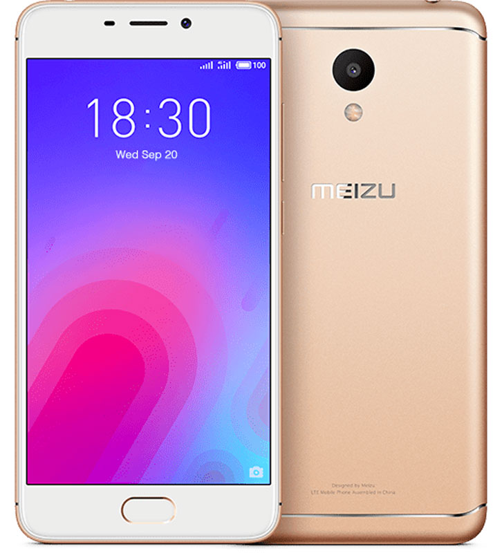 """Meizu M6 32GB, GoldMZU-M711H-32-GDГармония новых разработок и проверенных временем решенийВыполненный из поликарбоната корпус нового Meizu M6 отличается новым необычным металлизированным покрытием. Вручную выверенные линии усиливают положительное впечатление от корпуса смартфона. Сочетание классических материалов с уникальным дизайном делают смартфон приятным и удобным в использовании.Новые технологии, новый дизайнВ Meizu M6 реализовано новое дизайнерское решение, благодаря которому смартфон приобрел уникальную утонченную внешность. С помощью технологии вакуумной металлизации на корпус был нанесен слой металлизированной краски. Выгравированный лазером логотип компании дополнил привлекательный образ нового смартфона.Дисплей высокого разрешенияС новым 5,2-дюймовым дисплеем с контрастностью 1000:1 вы сможете наслаждаться четкими и яркими изображениями, которые заметно отличаются от изображений на смартфонах предыдущего поколения. Скругленное стекло 2,5D делает просмотр изображений еще более приятным, а технология полной ламинации значительно улучшает яркость картинки.Одна кнопка – полный контрольСканер отпечатков пальцев установлен в кнопке """"Домой"""". Однократным касанием вы можете разблокировать устройство, а также использовать сенсор для безопасных платежей и даже для блокировки запуска любых приложений.Длительная работа в режиме ожидания с 3070 мАч аккумуляторомC мощной 3070 мАч батарейкой энергии вашему компактному смартфону хватит на весь насыщенный впечатлениями день.Более мощный 8-ядерный процессорВ Meizu M6 установлен 64-битный 8-ядерный процессор, дополненный 3 ГБ оперативной памяти и 32 ГБ внутренней. В такой комплектации ваш M6 сможет удовлетворить любые пожелания и запросы в области музыки и видео. Надо ли говорить, что и требовательные игры на нем идут легко и без проблем?Основная камера – 13 Мп, фронтальная камера для селфи – 8 МпВ основной камере M6 установлен сенсор RGBW, сдвоенная вспышка и алгоритм подавления шумов от ArcSoft. В результате смартфон дела"""