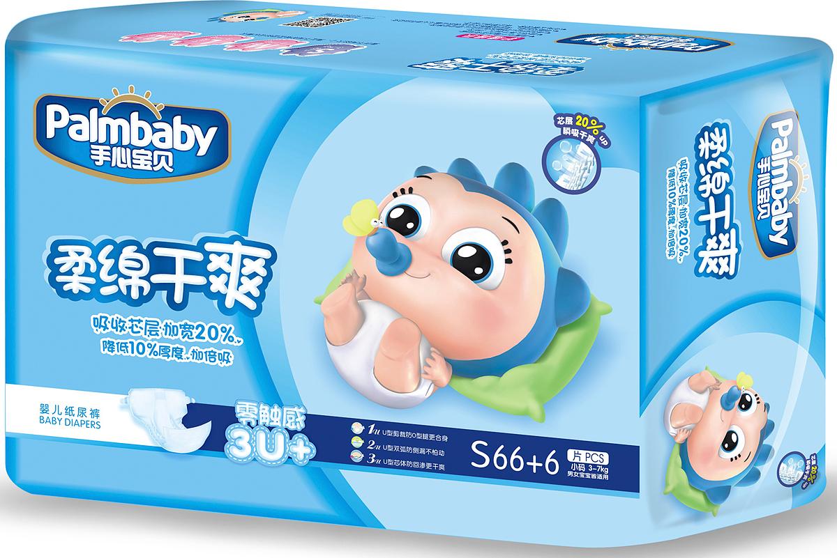 Palmbaby Подгузники детские S 3-7 кг 72 шт -  Подгузники и пеленки