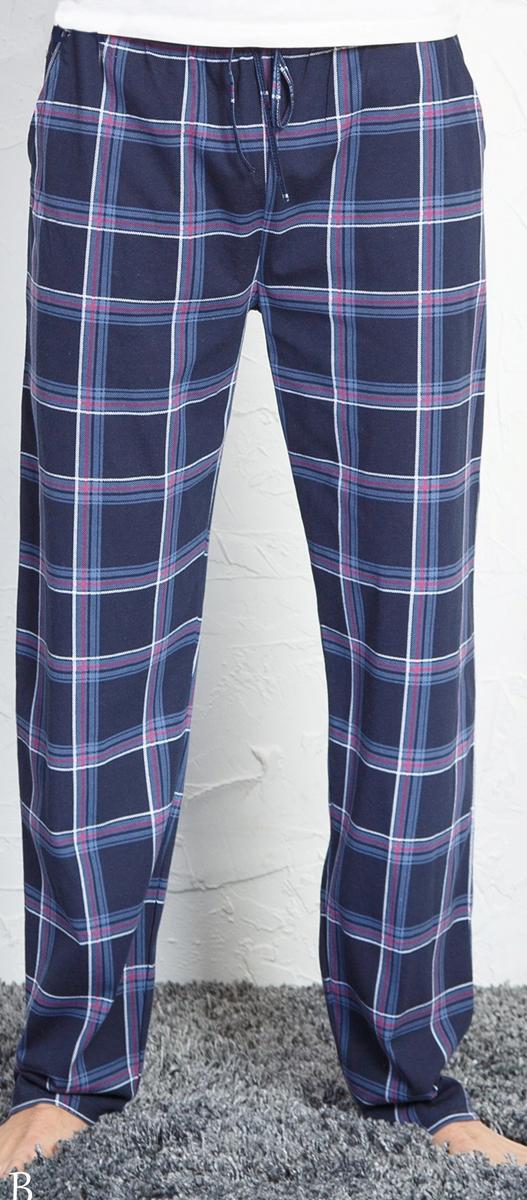 Брюки для дома мужские Vienetta's Secret, цвет: темно-синий. 710155 3281. Размер 50 брюки для дома мужские diesel цвет синий 00sj3i 0damk 05 размер xl 50