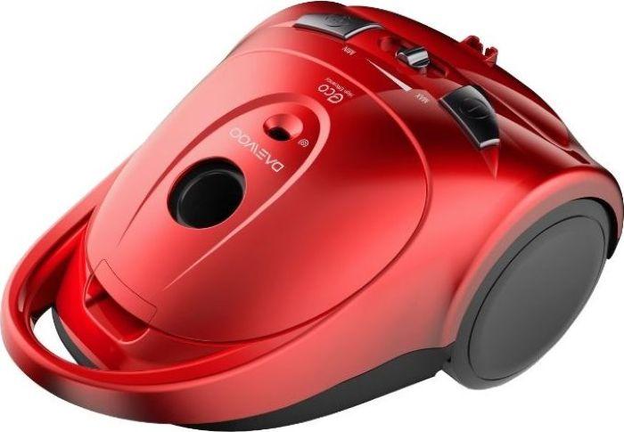 Daewoo RGJ-110R, Red пылесосRGJ-110RМешковый пылесос RGJ-110R с потребляемой мощностью 1400 Вт и мощностью всасывания 250 Вт обеспечит чистоту вашего дома. Модель пылесоса представлена в красном цвете.