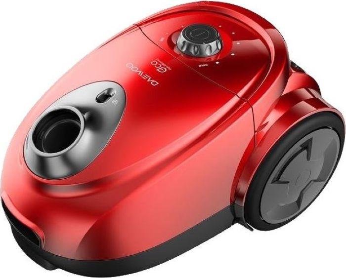 Daewoo RGJ-230R, Red пылесосRGJ-230RМешковый пылесос RGJ-230R с потребляемой мощностью 1800 Вт и мощностью всасывания 255 Вт обеспечит чистоту вашего дома. Модель пылесоса представлена в красном цвете.