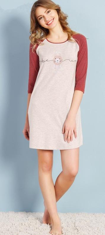 Туника женская Vienetta's Secret, цвет: бежевый. 706103 0000. Размер 46 женская туника платье дана размер 54