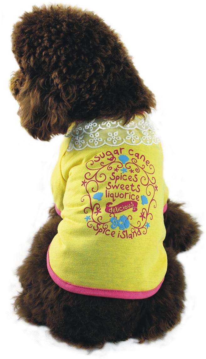 Майка для собак  Dobaz , для девочки, цвет: желтый. ДА1107АХЛ. Размер XL - Одежда, обувь, украшения