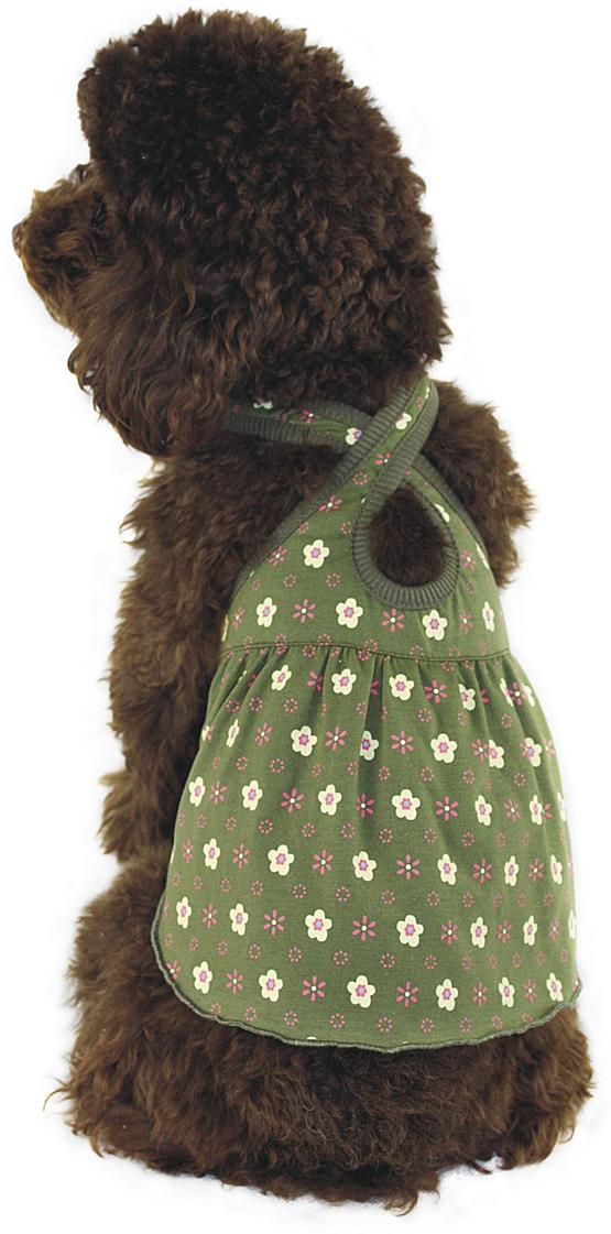 Платье для собак  Dobaz , цвет: зеленый. ДА1117БЛ. Размер L - Одежда, обувь, украшения
