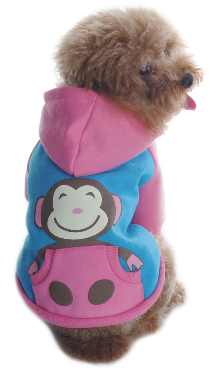 Куртка для собак Dobaz, цвет: розовый, голубой. ДА1121БХХЛ. Размер XXLДА1121БХХЛКуртка для собак Dobaz трикотажная дополнена карманом. На спинке изделие декорировано принтом Обезьянка.Обхват шеи: 40 см.Обхват груди: 60 см.Длина спинки: 41 см.Одежда для собак: нужна ли она и как её выбрать. Статья OZON Гид