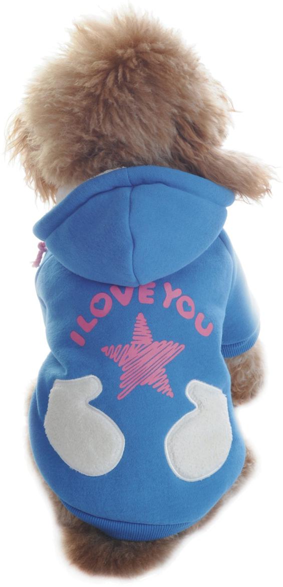 Куртка для собак Dobaz, цвет: голубой. ДА1122БХХЛ. Размер XXLДА1122БХХЛКуртка для собак Dobaz выполнена из трикотажа и дополнена карманом. Обхват шеи: 40 см.Обхват груди: 60 см.Длина спинки: 41 см.