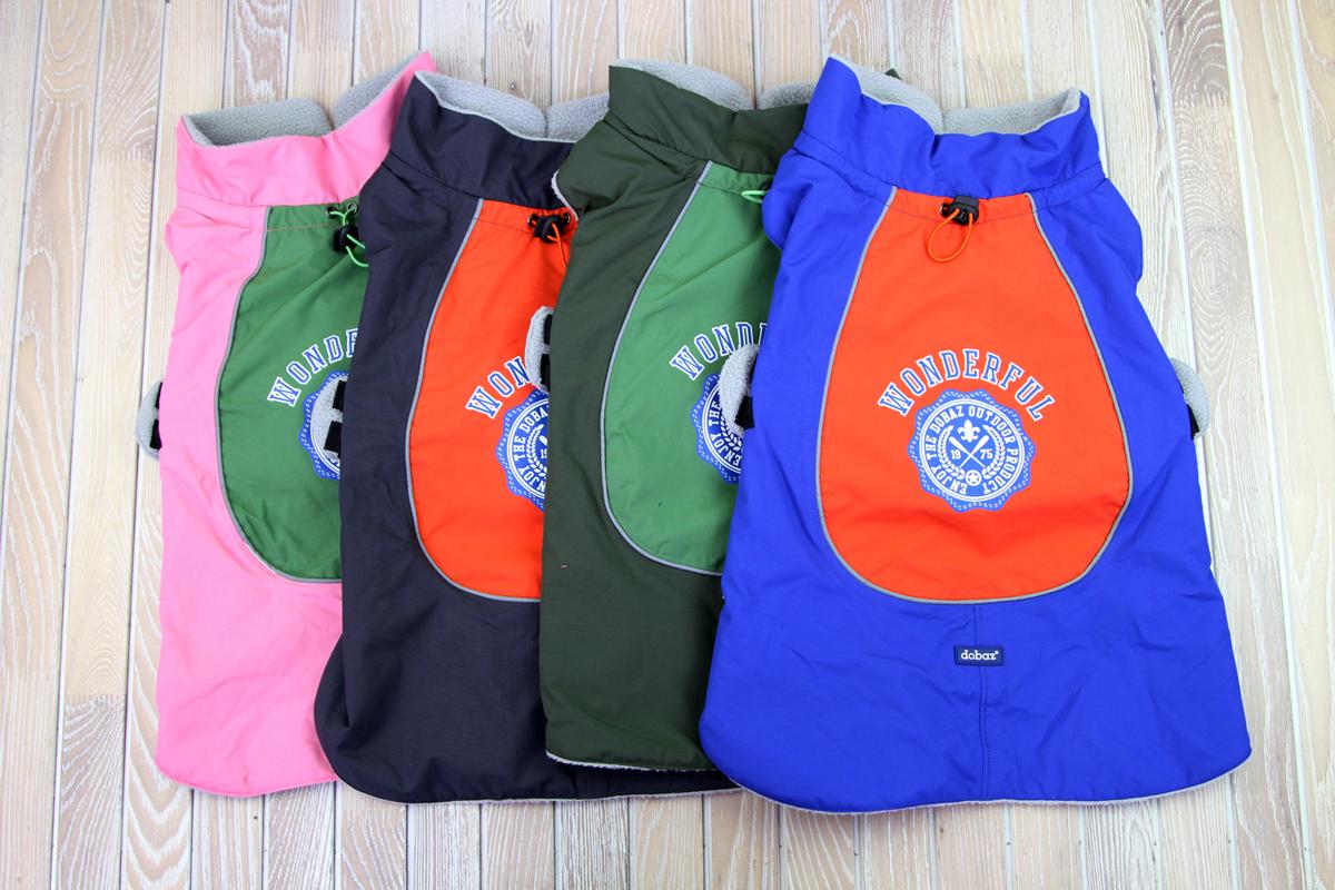 Куртка для собак Dobaz, водонепроницаемая, утепленная, цвет: синий. ДА1202В2ХЛ. Размер 2XLДА1202В2ХЛКуртка Dobaz отлично подходит для использования в сырую погоду. Она специально разработана для использования в дождливую прохладную погоду. Материал обладает водоотталкивающей способностью, поэтому превосходно защитит вашего питомца.Обхват шеи: 40 см.Обхват груди: 60 см.Длина спинки: 41 см.Одежда для собак: нужна ли она и как её выбрать. Статья OZON Гид