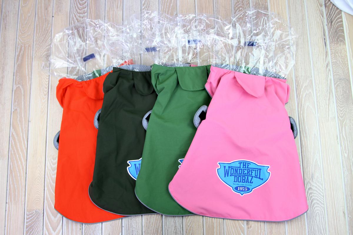 Куртка для собак Dobaz, водонепроницаемая, цвет: зеленый. ДА1205С2ХЛ. Размер 2XLДА1205С2ХЛВашему четвероногому другу в дождливое время года необходима куртка? Куртка Dobaz на липучках с прозрачным капюшоном выполнена из материала, который обладает свойством отталкивать воду, поэтому он подходит для использования в сырую погоду.Обхват шеи: 40 см.Обхват груди: 60 см.Длина спинки: 41 см.Одежда для собак: нужна ли она и как её выбрать. Статья OZON Гид