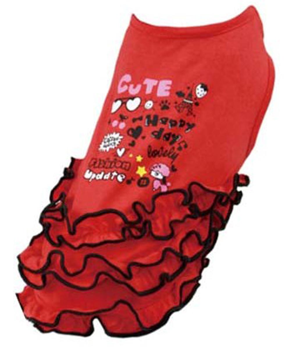 Платье для собак  Dobaz , цвет: красный. ДА13022БХЛ. Размер XL - Одежда, обувь, украшения