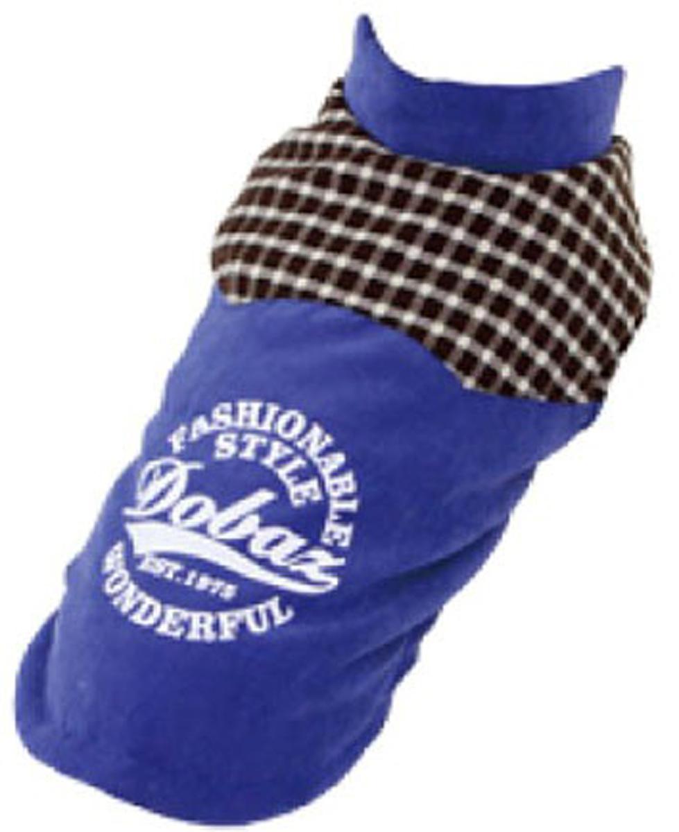 Куртка для собак Dobaz, цвет: синий. ДА13047СЛ. Размер LДА13047СЛСтильная куртка-жилетка для собак Dobaz в английском стиле. Практичная и теплая на подкладе из флиса, для прохладной погоды. Спинка украшена вставкой в клетку. Застежка - клепки.Обхват шеи: 31 см.Обхват груди: 48 см.Длина спинки: 33 см.Одежда для собак: нужна ли она и как её выбрать. Статья OZON Гид