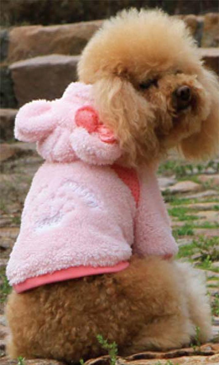 Куртка для собак Dobaz, цвет: розовый. ДА13053БЛ. Размер LДА13053БЛКрасивая куртка для собак Dobaz из длинноворсового флиса. Мягкая, очень приятная на ощупь. Мягкая подкладка. На спинке красивая вышивка, на ушке - бант. Капюшон с подкладкой и ушками.Оригинальная, удобная одежда. Не сковывает движения.Обхват шеи: 31 см.Обхват груди: 48 см.Длина спинки: 33 см.Одежда для собак: нужна ли она и как её выбрать. Статья OZON Гид
