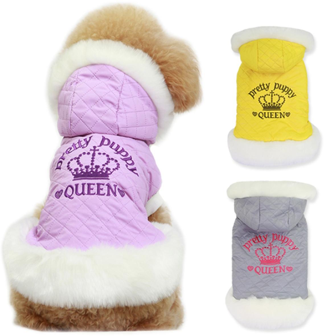 Куртка для собак Dobaz Pretty Puppy, цвет: желтый. ДА14068СХС. Размер XSДА14068СХСКуртка для собак Dobaz Pretty Puppy выполнена из плотной непромокаемой ткани с декоративной стежкой. Воротник и нижний край изделия оторочены белым мехом, подкладка также выполнена из меха. На спине куртка декорирована вышивкой. Обхват шеи: 20 см.Обхват груди: 31 см.Длина спинки: 21 см.Одежда для собак: нужна ли она и как её выбрать. Статья OZON Гид