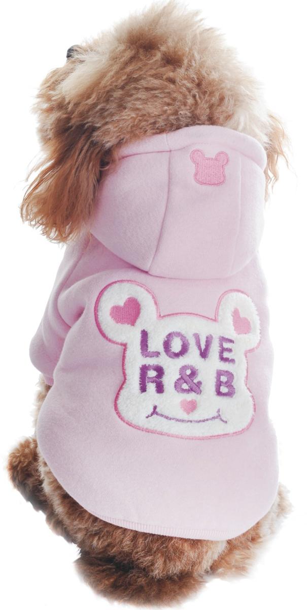 Куртка для собак Dobaz Love R&B, утепленная, цвет: розовый. ДЛ1105АХХЛ. Размер XXL куртка для собак dobaz утепленная цвет розовый дл1104аххл размер xxl